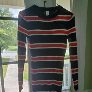 Divided H&M Striped Long Sleeve Fall Dress